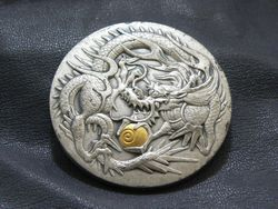 銀製 龍メタル